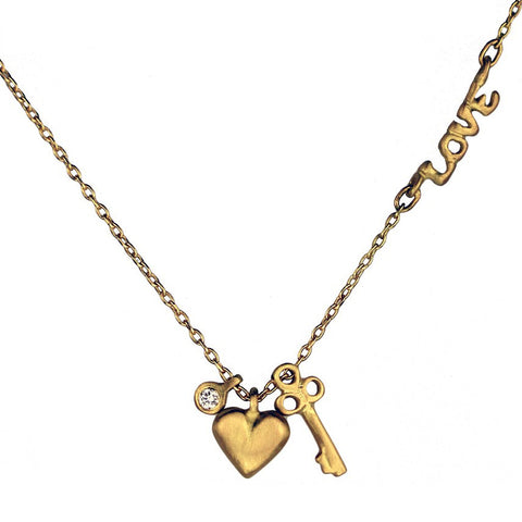 sedoni gallery, Marian Maurer Love Necklace, marian maurer jewelry, Marian Maurer Necklace, love necklace, heart necklace, key heart necklace,