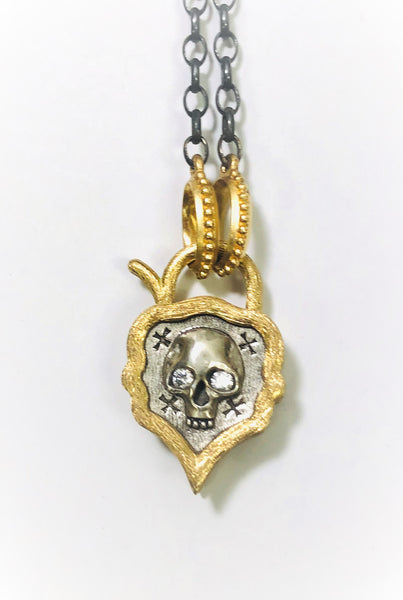 Skull with Diamond Pendant