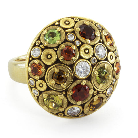 "Alex Sepkus ""Blooming Hill"" Dome Ring"