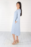 Hailey Dress- Ash Blue