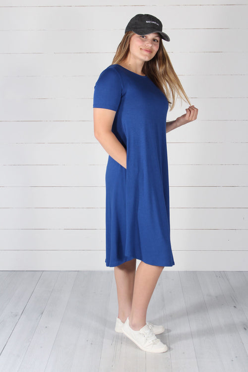 Harper Dress- Mid Navy
