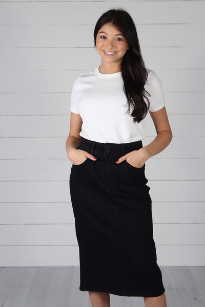 Harlem Denim Skirt - Black