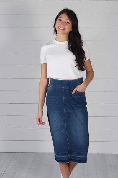 Beckham Denim Skirt - Indigo