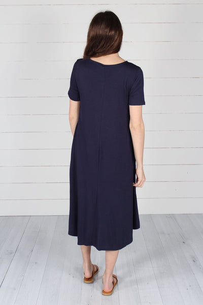 Harper Dress- Navy