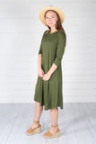 Hailey Dress- Army Green