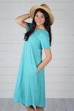 Harper Dress- Ash Mint