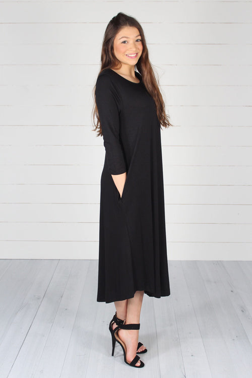 Sidney Dress-Black