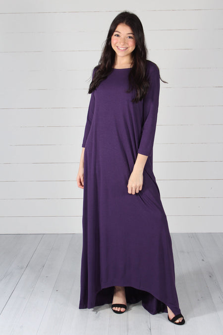 Alexis Maxi Dress- Dusty Blue