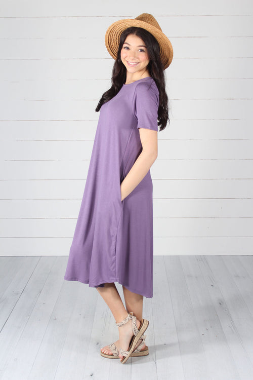 Harper Dress- Lilac Grey
