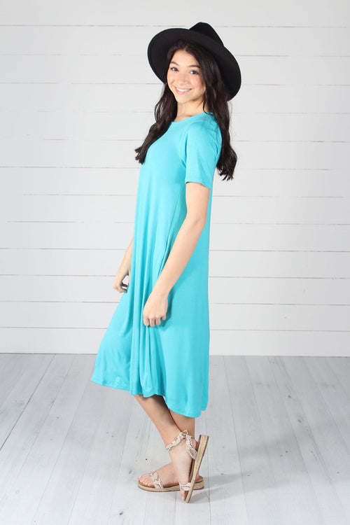 Harper Dress- Ice Blue