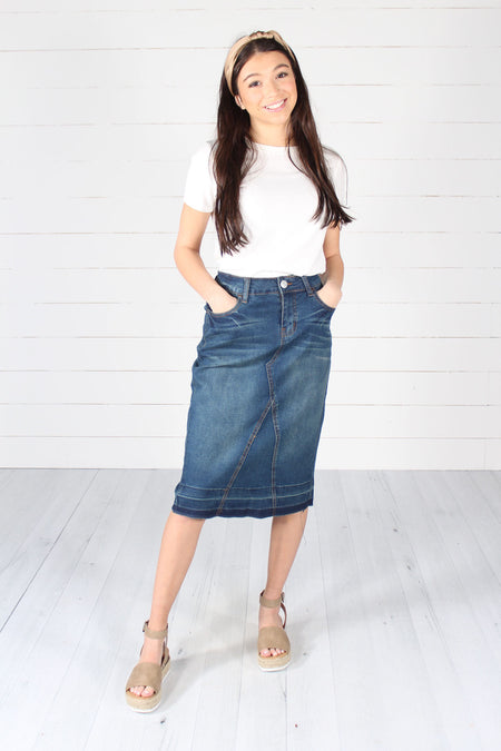 Bowman Denim Skirt