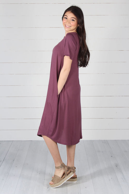 Harper Dress- Eggplant