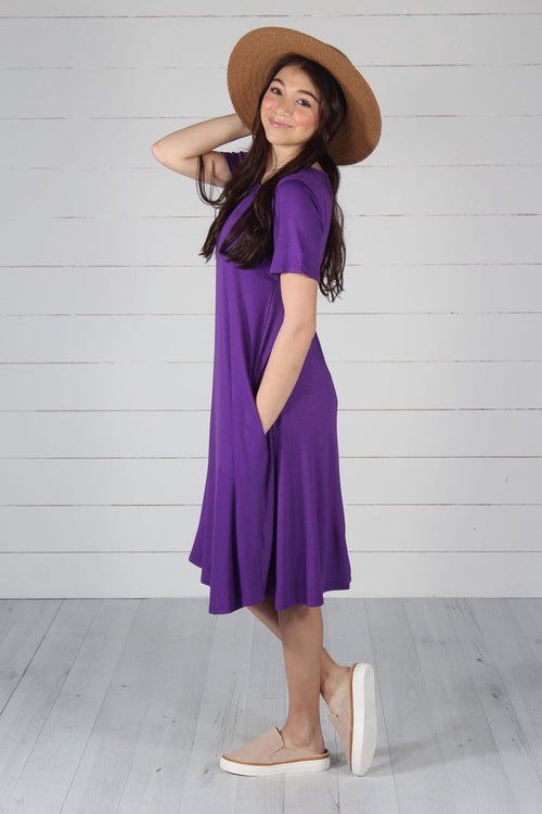 Harper Dress- Purple