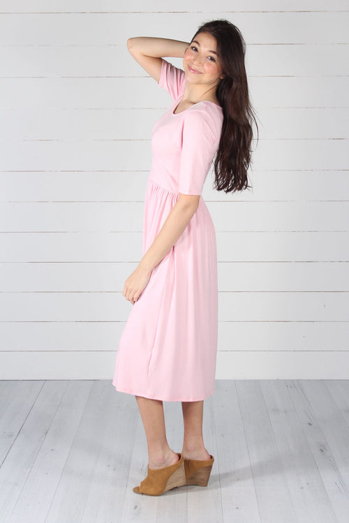 Maddie Dress - Dusty Pink