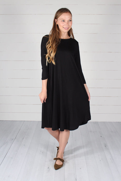 Hailey Dress-Black