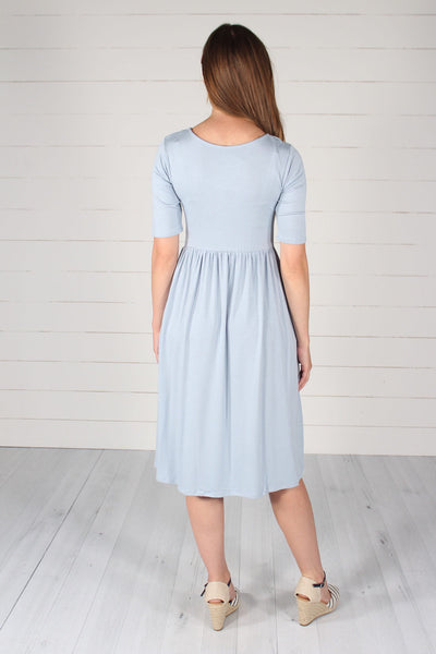 Maddie Dress -  Ash Blue