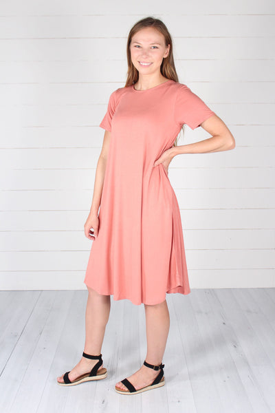 Harper Dress- Ash Rose