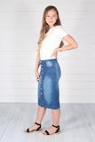 Bennett Denim Skirt-Indigo