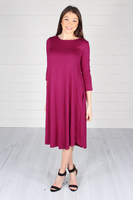 Harper Dress- Berry