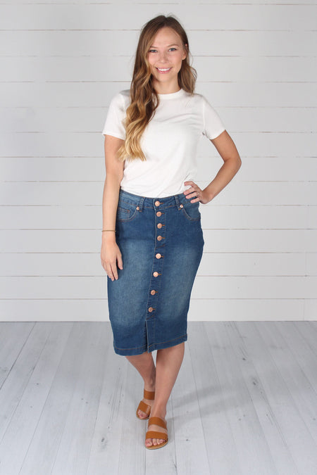 Channing Pencil Skirt- Ash Mint