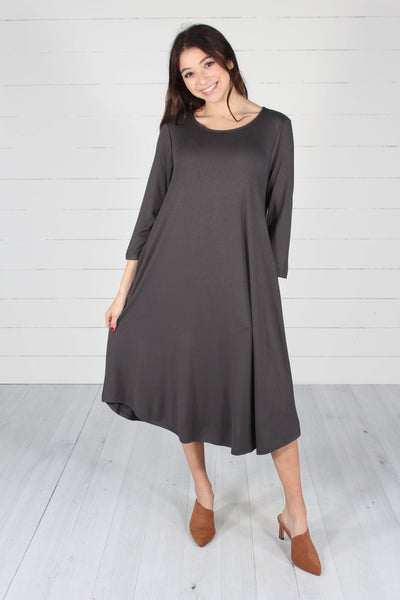 Hailey Dress- Ash Grey