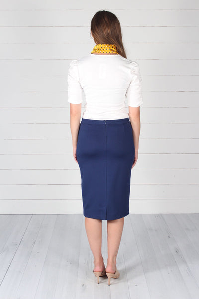 Lincoln Pencil Skirt- Navy