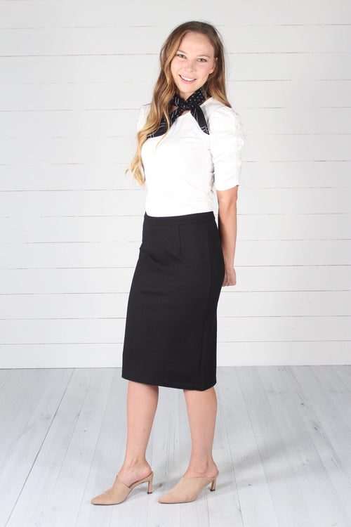 Lincoln Pencil Skirt- Black
