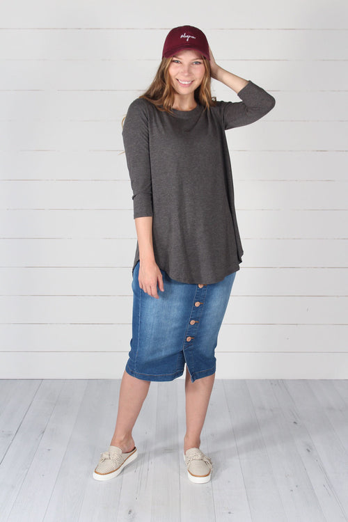 Giovanni Top- Charcoal
