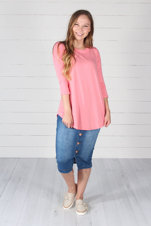 Giovanni Top- Rose Pink