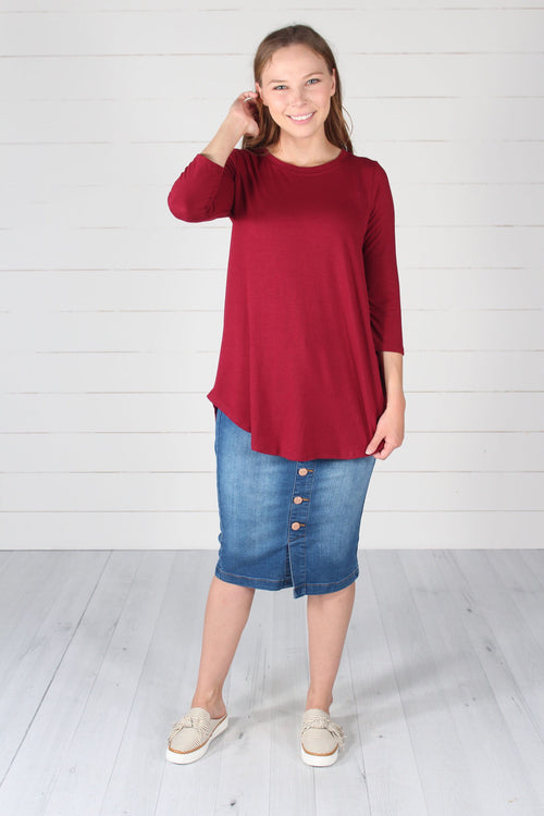 Giovanni Top- Dk. Red