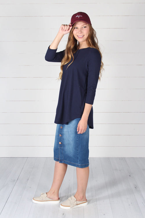 Giovanni Top- Navy