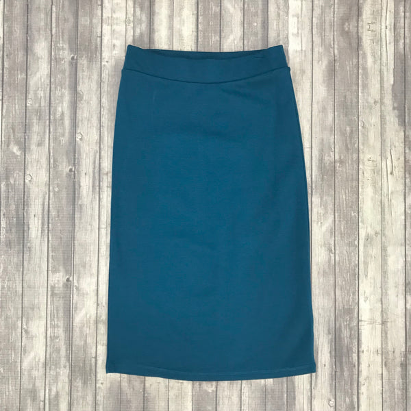 Channing Pencil Skirt-Teal