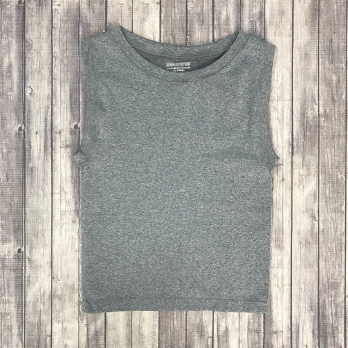 Cropped Seamless Tank- Grey