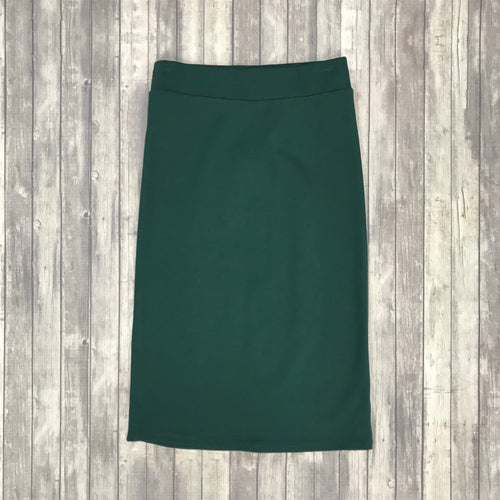 Channing Pencil Skirt-Hunter Green