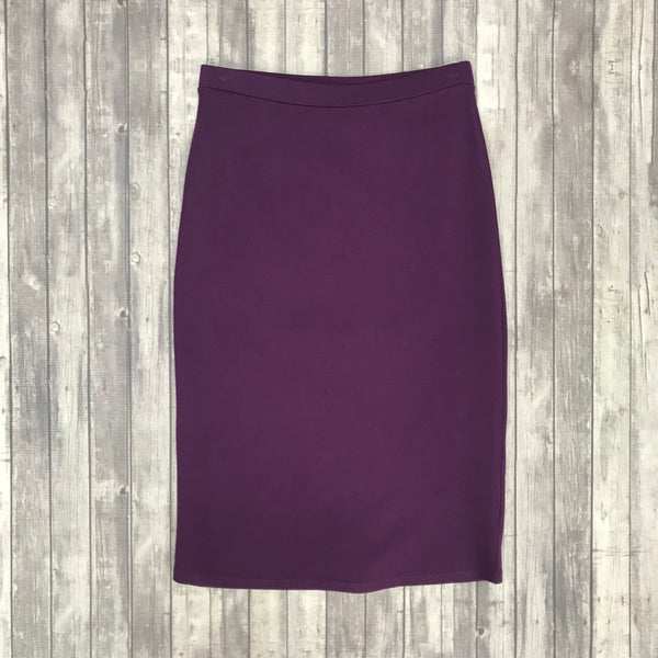 Channing Pencil Skirt- Dk. Plum