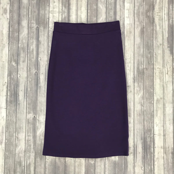 Channing Pencil Skirt- Dk. Purple