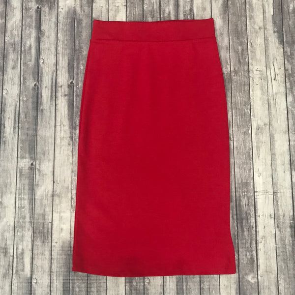 Channing Pencil Skirt- Ruby