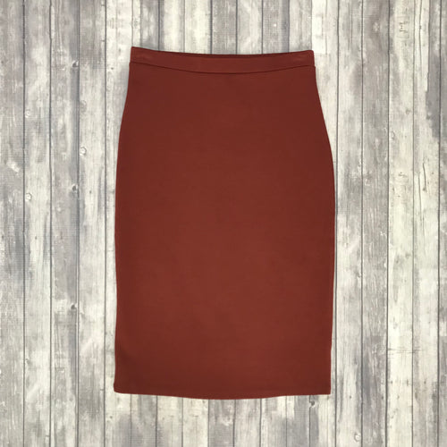 Channing Pencil Skirt- Fired Brick