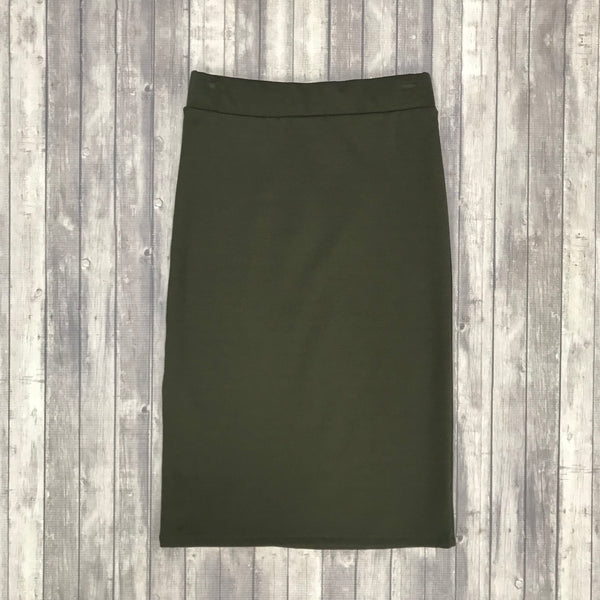 Channing Pencil Skirt- Dk. Olive
