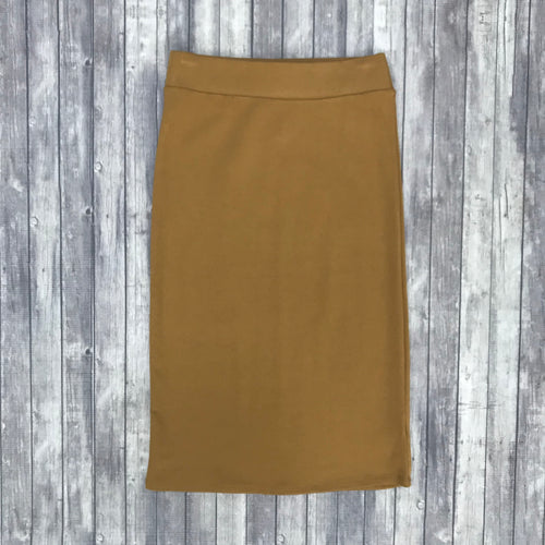 Channing Pencil Skirt-Coffee
