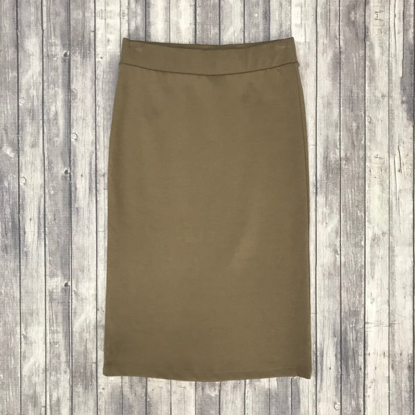 Channing Pencil Skirt-Mocha