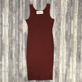Bodycon Slip Dress- Fired Brick