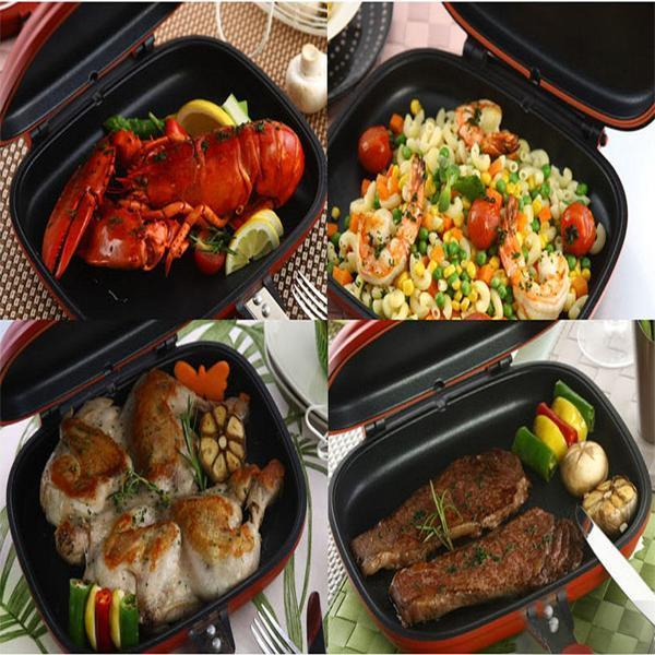 Non-stick Double Side Grill Fry Pan - 50% OFF!