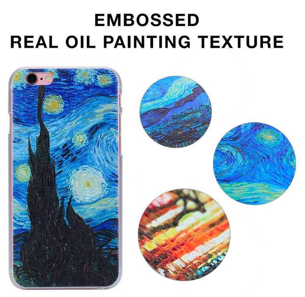 Van Gogh Starry Night Phone Embossed iPhone Case - 53% OFF