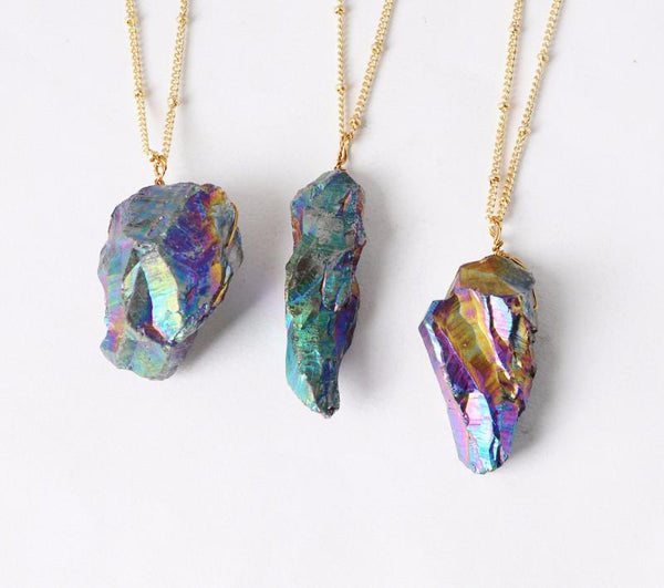 Multicolor Stone Pendant Necklace