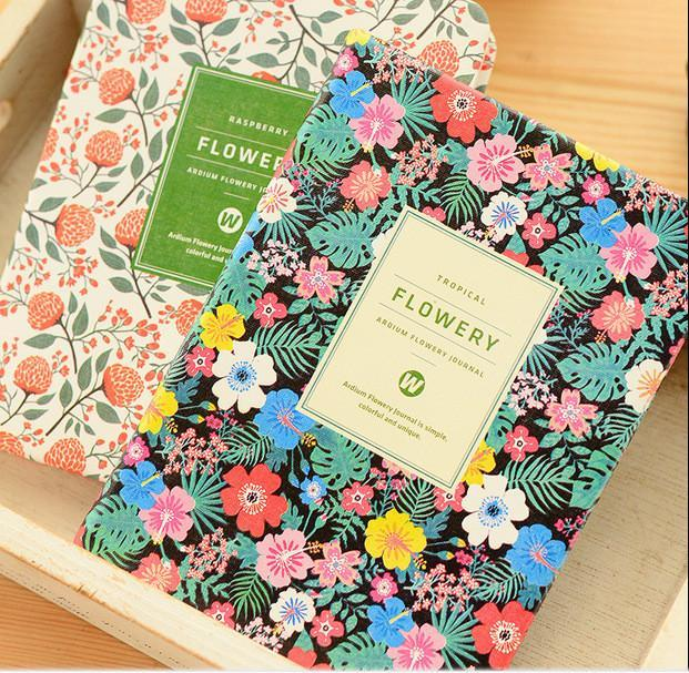 New Cute Floral Flower Book Diary