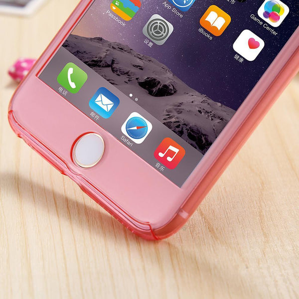 Hard Front Back Tempered Glass Protector For iPhone 6 / 6S Plus