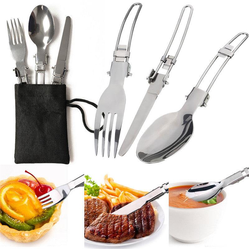 Portable Outdoor Pot Pan & Stove Set with Piezo Ignition - 60%OFF!