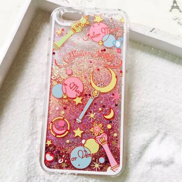 Sailor Moon Glitter Liquid iPhone Case - 50% OFF