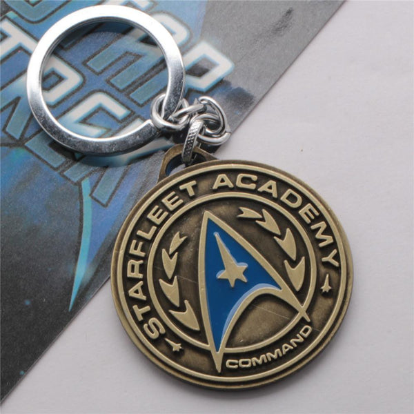 Antique StarTrek Key Chain Bronze Plated